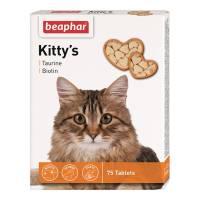 Beaphar Kitty's витаминизированное лакомство-сердечки для кошек с таурином и биотином - 75 таблеток
