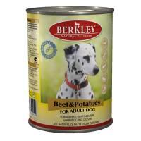 Berkley Adult Dog Beef & Potatoes паштет для взрослых собак с говядиной, картофелем, льняным маслом и ароматным бульоном - 400 г х 6 шт