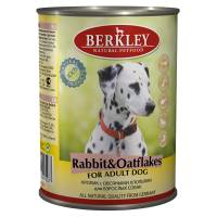 Berkley Adult Dog Rabbit & Oatflakes паштет для взрослых собак с натуральным мясом кролика, овсяными хлопьями - 400 г х 6 шт
