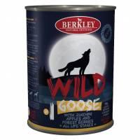Влажный корм Berkley Adult Dog Wild №1 для взрослых собак с гусем, цукини, яблоками и лесными ягодами - 400 г х 6 шт