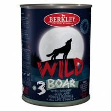 Влажный корм Berkley Adult Dog Wild №3 для взрослых собак с мясом кабана, пастернаком, сладким луком и лесными ягодами - 400 г х 6 шт
