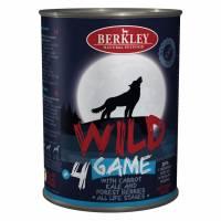 Влажный корм Berkley Adult Dog Wild №4 для взрослых собак с дичью, морковью, капустой и лесными ягодами - 400 г х 6 шт