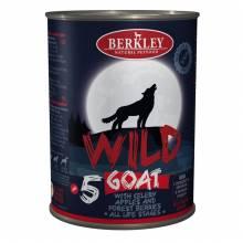 Влажный корм Berkley Adult Dog Wild №5 для взрослых собак с мясом козы, сельдереем, яблоками и лесными ягодами - 400 г х 6 шт