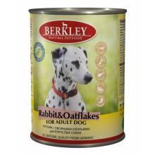 Berkley Puppy Rabbit & Oatflakes паштет для взрослых с натуральным мясом кролика, овсяными хлопьями - 400 г х 6 шт