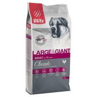 Blitz Adult Large & Giant Breed сухой корм для взрослых собак крупных пород с курицей 2 кг (15 кг)