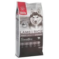 Blitz Adult Lamb & Rice сухой корм для взрослых собак с ягненком и рисом 2 кг (15 кг)