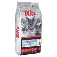 Blitz Sterilised Cats сухой корм для стерилизованных взрослых кошек с индейкой - 2 кг (10 кг)