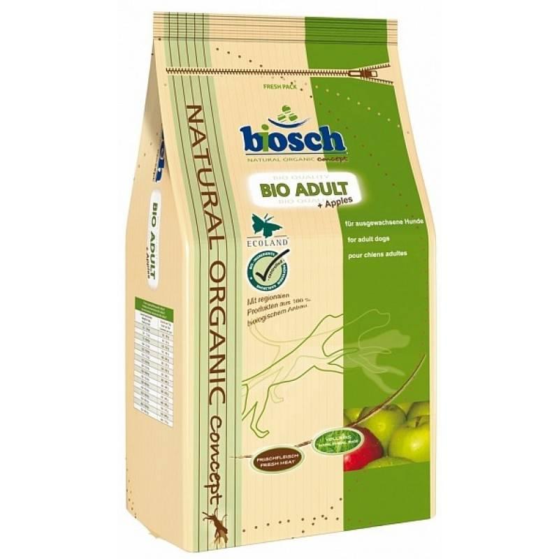 Bosch Bio Adult - сухой корм с яблоками для взрослых собак всех пород 3,75 кг (11,5 кг)