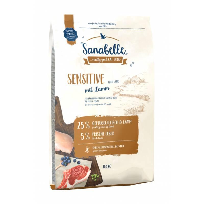 Sanabelle (Bosch) Sensitive Lamb - сухой корм для кошек с чувствительным пищеварением c ягненком и рисом 2 кг (10 кг)