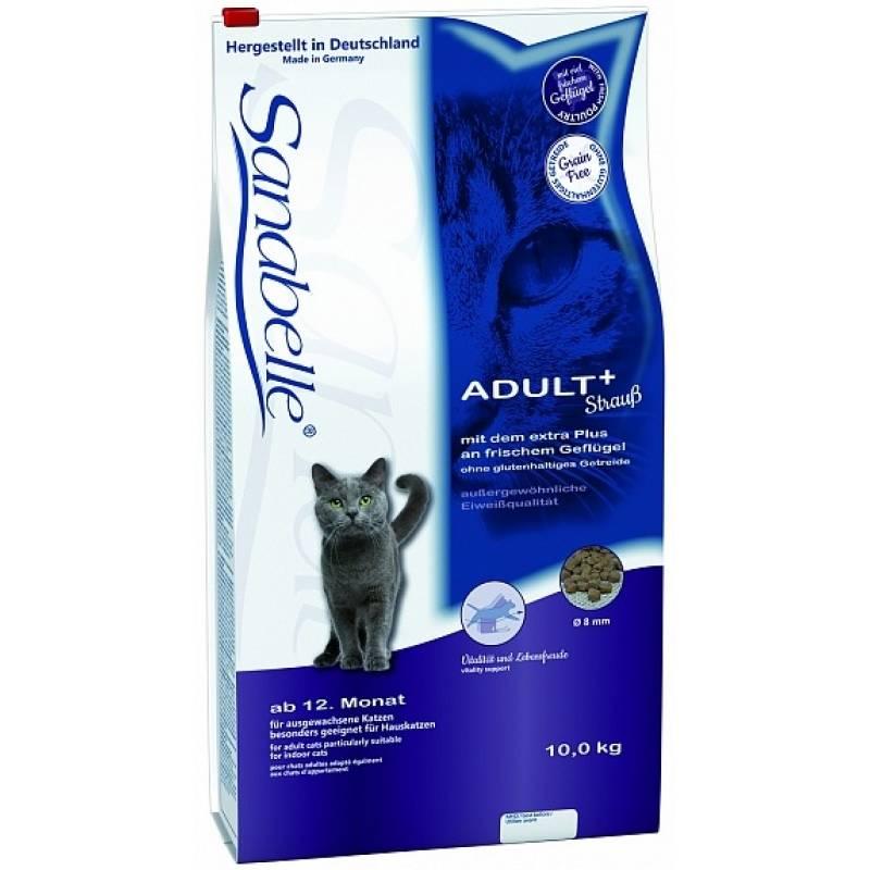 Sanabelle (Bosch) Adult Ostrich - сухой корм для кошек от 1 года с мясом страуса 2 кг (10 кг)