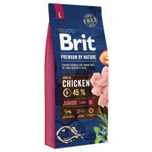 Brit premium by Nature Junior L сухой корм для молодых собак крупных пород 3 кг (15 кг)