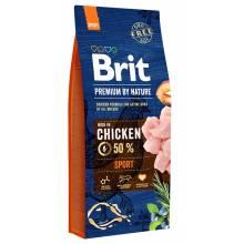 Brit Premium by Nature Sport сухой корм для рабочих или охраняющих, охотничьих и работающих в упряжке собак 3 кг (15 кг)