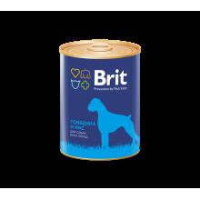 Консервы Brit Premium BEEF & RICE для взрослых собак всех пород склонных к полноте с говядиной и рисом - 850 гр х 6 шт