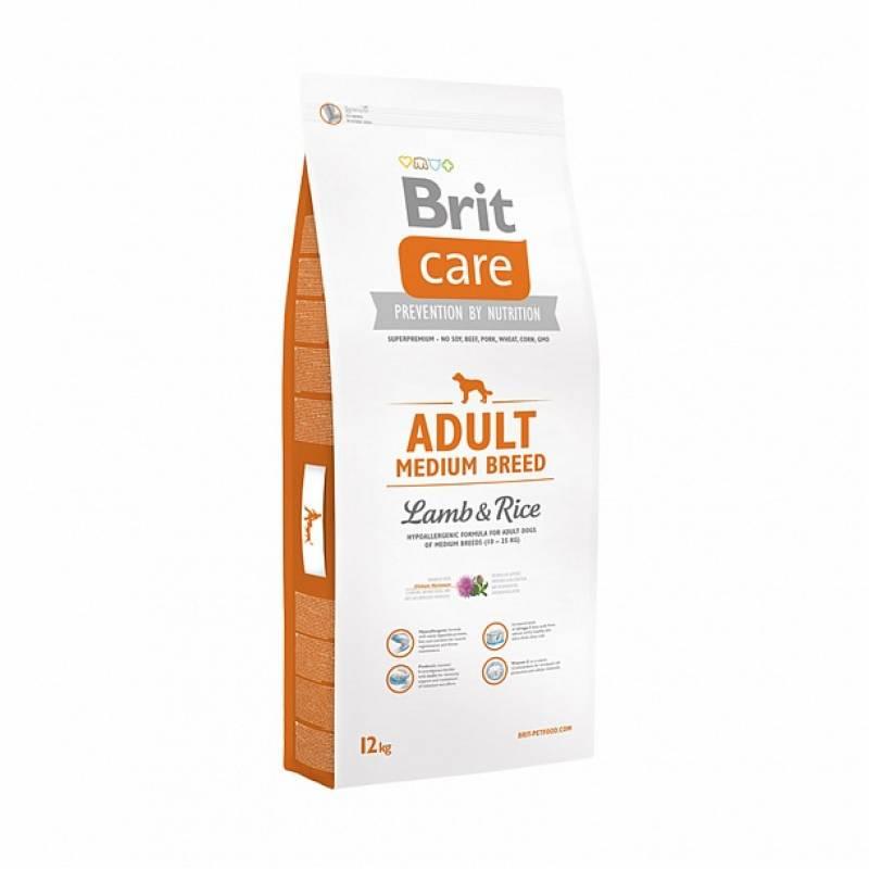 Brit Care Adult Medium Breed сухой корм для собак средних пород с ягненком и рисом 3 кг  (12 кг)