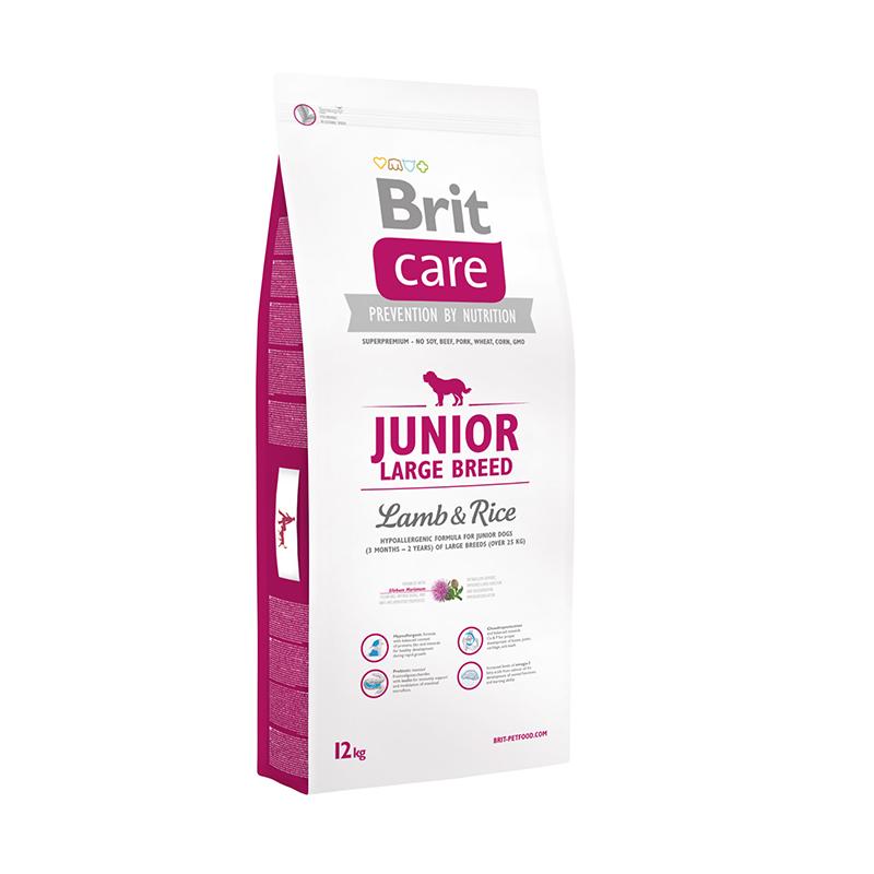 Brit Care Junior Large Breed сухой корм для щенков крупных пород с ягненком и рисом 3 кг (12 кг)