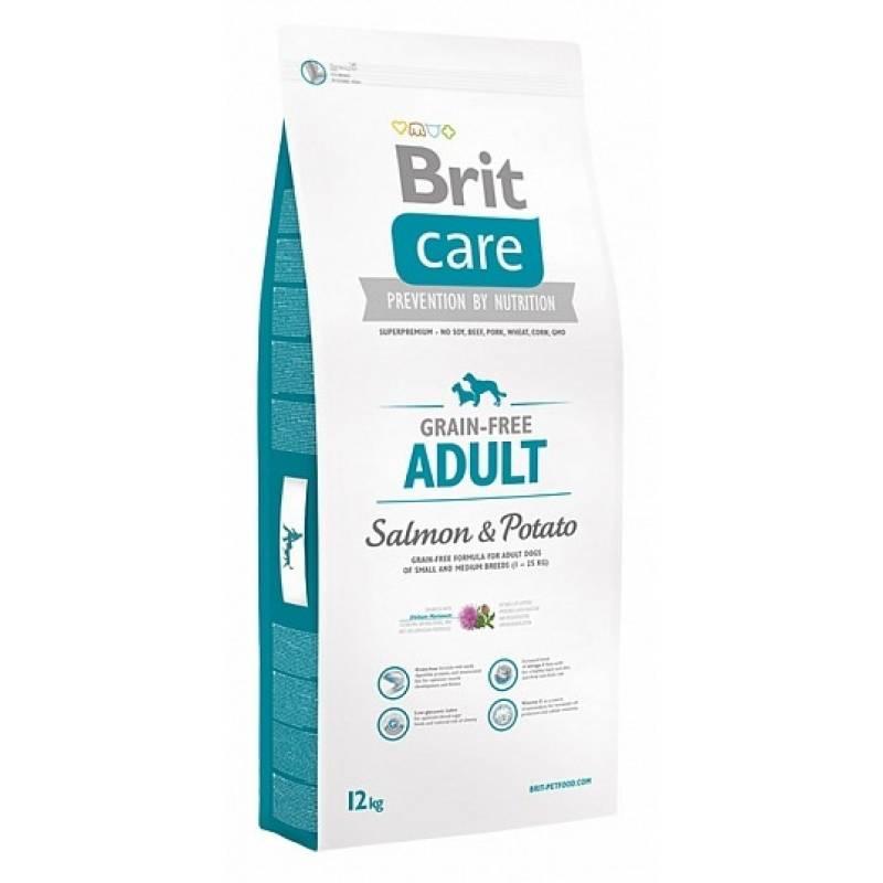 Brit Care Salmon & Potato All Breed сухой корм беззерновой для собак всех пород с лососем и картофелем 3 кг (12 кг)