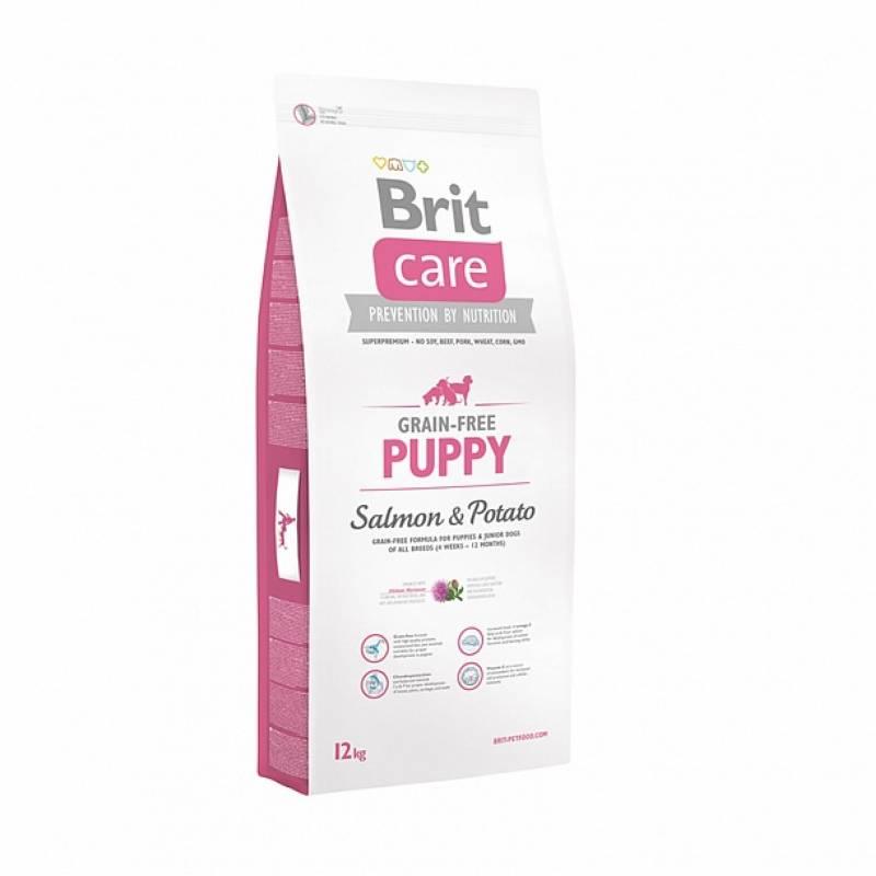 Brit care salmon & potato puppy cухой корм для щенков всех пород с лососем и картофелем 3 кг (12 кг)