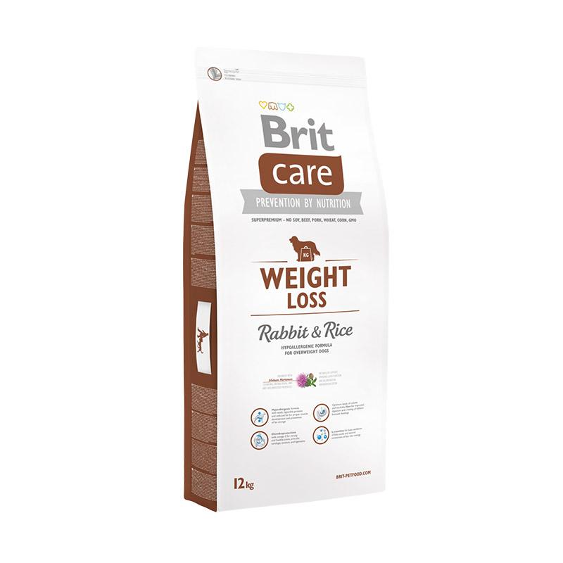 Brit Care Weight Loss сухой корм  для склонных к полноте собак, c кроликом и рисом 3 кг (12 кг)