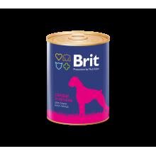 Консервы Brit Premium HEART & LIVER для взрослых собак всех пород с сердцем и печенью - 850 гр х 6 шт