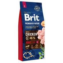 Brit premium by Nature adult L сухой корм для взрослых собак крупных пород 3 кг (8 кг) (15 кг)