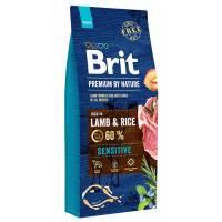 Brit premium by Nature Sensitive сухой корм для собак с чувствительным пищеварение с ягненком и рисом 3 кг (8 кг) (15 кг)