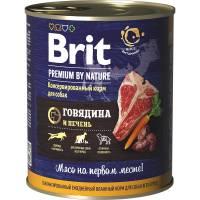 Brit Red Meat & Liver влажный корм для собак с говядиной и печенью 850 г х 6 шт