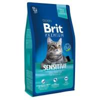 Brit Premium Cat Sensitive гипоаллергенный корм для кошек всех пород с чувствительным пищеварением с мясом ягненка 1,5 кг (8 кг)