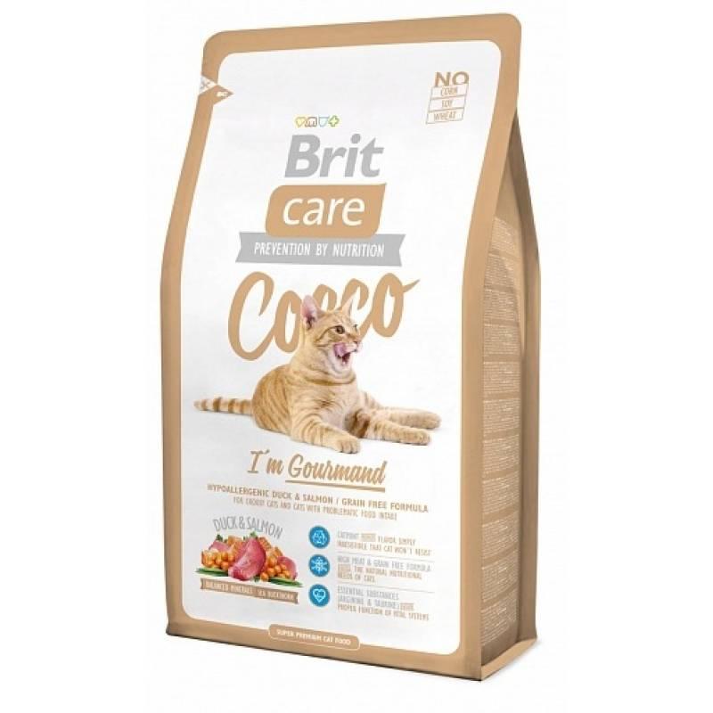 Brit Care Cat Cocco Gourmand сухой корм для кошек-гурманов 2 кг (7 кг)