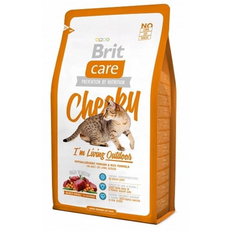 Brit Care Cat Cheeky Outdoor сухой корм для активных кошек и кошек уличного содержания 2 кг (7 кг)