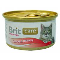 Консервы для взрослых кошек Brit care chicken breast с куриной грудкой 48 шт х 80 гр