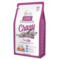 Brit Care Cat Crazy Kitten сухой корм для котят, беременных и кормящих кошек 2 кг (7 кг)