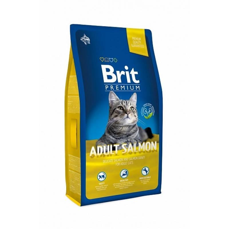 Brit Premium Cat Adult Salmon сухой корм для взрослых кошек с лососем 1,5 кг (8 кг)