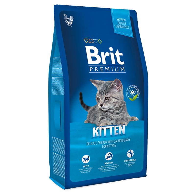 BRIT Premium Cat Kitten Chicken сухой корм для котят с курицей 1,5 кг (8 кг)