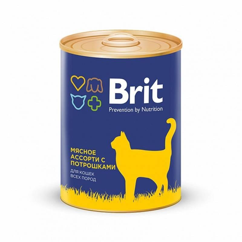 Консервы Brit Premium Beef and Offal Medley для кошек всех пород мясное ассорти с потрошками - 0,34 кг х 12 шт