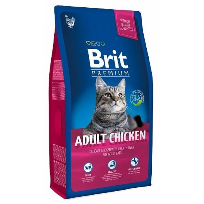 Brit Premium Cat Adult Chicken сухой корм для кошек с мясом курицы и куриной печенью 1,5 кг (8 кг)