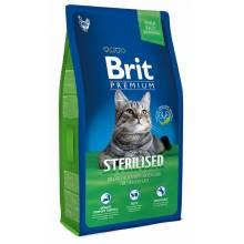 Brit Premium Cat Sterilised сухой корм с курицей и печенью для стерилизованных кошек 1,5 кг (8 кг)