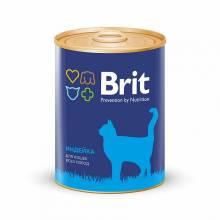 Консервы Brit Premium Turkey для кошек всех пород с индейкой - 0,34 кг х 12 шт