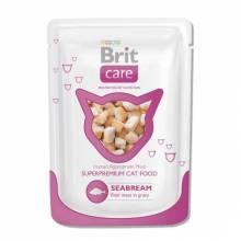 Влажный корм для взрослых кошек Brit White Fish Pouch с морским лещем 24 шт х 80 гр