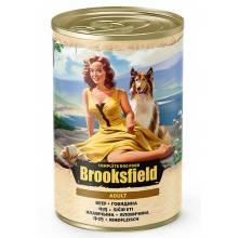 Brooksfield Adult Dog влажный корм для собак с говядиной и рисом в консервах - 400 г х 12 шт