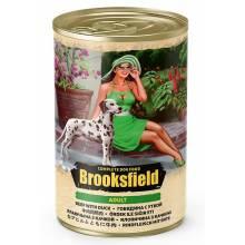 Brooksfield Adult Dog влажный корм для собак с говядиной, уткой и рисом в консервах - 400 г х 12 шт