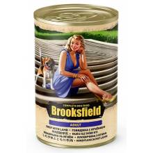Brooksfield Adult Dog влажный корм для собак с говядиной, ягнёнком и рисом в консервах - 400 г х 12 шт