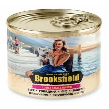 Brooksfield Adult Small Breed Dog влажный корм для собак мелких пород с говядиной и рисом в консервах - 200 г х 12 шт