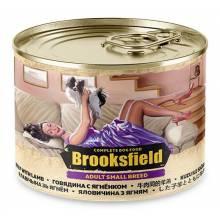 Brooksfield Adult Small Breed Dog влажный корм для собак мелких пород с говядиной, ягнёнком и рисом в консервах - 200 г х 12 шт