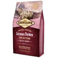 CarniLove с лососем и индейкой сухой корм для котят - 2 кг (6 кг)