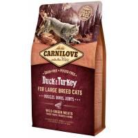 CarniLove с мясом утки и индейки сухой корм для взрослых кошек крупных пород 2 кг (6 кг)