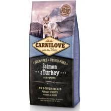 Carnilove «Лосось и индейка» сухой корм для щенков всех пород 1,5 кг (12 кг)