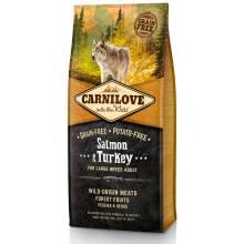 Carnilove «Лосось и индейка» сухой корм для взрослых собак крупных пород 1,5 кг (12 кг)