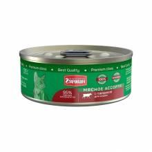 Четвероногий Гурман Мясное ассорти с говядиной полнорационный консервированный корм для кошек - 100 г (100 г х 24 шт)