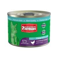 Четвероногий Гурман паштет для кошек с куриной печенью - 190 г (190 г х 12 шт)