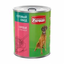 Четвероногий Гурман Готовый обед для собак сердце с гречкой - 850 гр х 6 шт